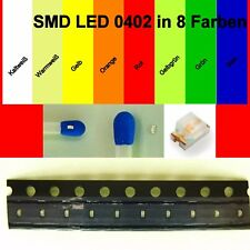 SMD LED 0402 in 8 verschiedenen Farben 1/10/25/50/100 Stück zur Auswahl