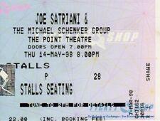 Joe Satriani - Michael Schenker - ORIGINAL Concert Ticket - Dublin 14th May 1998