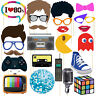 I Love 80's Party Photo Booth Props 24 Count