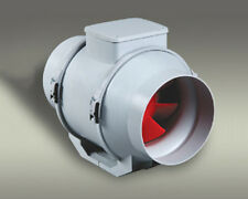 150mm Mixed Flow In-line Axial Fan Mix Ventilation White Grey Metal Inline Air