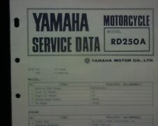 1973-74 Yamaha RD250A RD250 A Service Data specification booklet Workshop manual