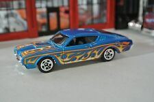 Hot Wheels - '69 Mercury Cyclone - Blue w/ Flames - Loose - 1:64