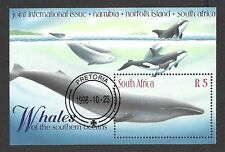 South Africa 1998 Whales of the Southern Oceans M/S Used