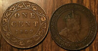 1909 King Edward VII Canada Large Cent Grade G+