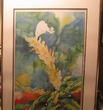 """Lovely Watercolor Painting """"LILA'S FLOWER"""" Signed ARLESS DAY Dated 1982!!!!"""