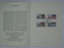 (90j29)DDR Erinnerungsblatt 1990 mit ESST Mi.Nr. 3354-3357 Postverbindungen