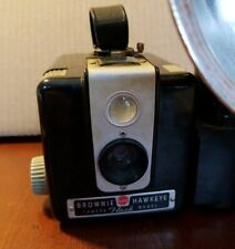 Kodak Camera Brownie Hawkeye Flash Model Box Shape  Vintage Good Cond 12 pics