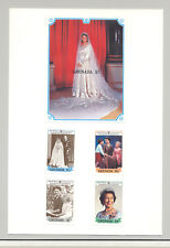 Grenada #1577-1581 Queen Elizabeth 4v & 1v S/S Imperf Proofs on Card