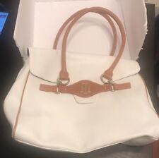 Tommy Hilfiger Leather Purse White Shoulder Bag Magnetic Closure