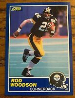 1989 Score #78 ROD WOODSON RC- STEELERS HOF
