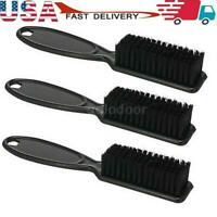 1/3PCS Professional Barber Fade Taper Hair Brush Comb Cleaning Black Andis US