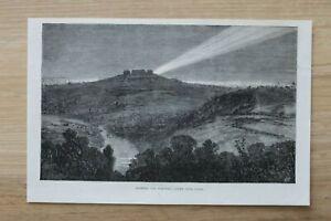 L12b) Holzstich Paris 1870 elektrisches Licht Ort Krieg Frankreich Deutschland