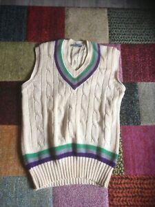 Vintage Cricket Sleeveless Jumper/ Tank Top 46 Chest