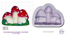 Toad SGABELLI FUNGHI VELENOSI Craft Sugarcraft fimo resina SCULPEY Stampo in silicone