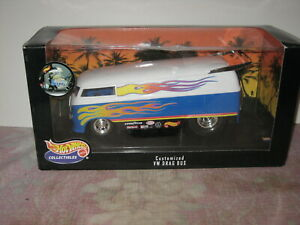 1/18 Scale Hot Wheels Customized VW Drag Bus Blue and White