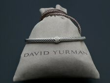 David Yurman Cable Classics Bracelet Pave Diamonds Station, 4mm Size L