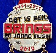 Brings 2018 NEU Karnevalsorden 2012 Musik Kölsch Köln Karneval Anstecker Pin NEU