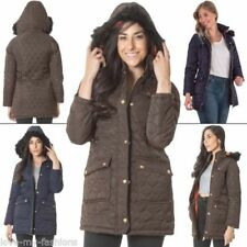 Hip Length Button Quilted Coats & Jackets for Women
