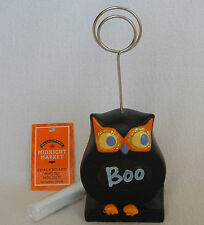 OWL Hoot Boo PHOTO PICTURE HOLDER Halloween Fall CHALK Chalkboard TEACHER FUN
