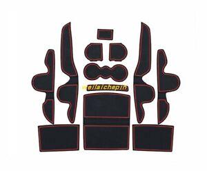 Car Interior Door Mat Gate Slot Pad Cup Mat Hold Trim For KLA Sorento 2015-2019