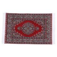 1Pcs 1:12 Dollhouse miniature embroidered carpet woven rug floor coverings WBDA