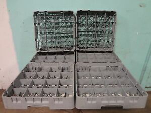 """LOT OF 6 """"CAMBRO"""" HEAVY DUTY COMMERCIAL 16 TEA/COFFEE/SOUP CUPS DISHWASHER RACKS"""
