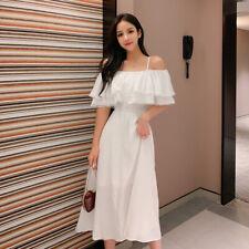 Fashion Women Girl Dress Lolita Sleeveless New Sweet Lady Summer Long Dress