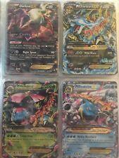 Lot of 4 Pokemon Cards: Darkrai Ex, Mcharzard Ex , Mvenusaur Ex, Mblastoise Ex