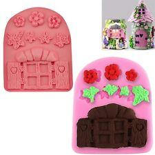 Hada Ventana Flor Pastel Silicona Molde horneado decoración chocolate Hoja Molde