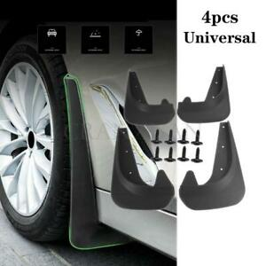 4Pcs Car Fender Splash Guards Front&Rear Mudflaps Kits Universal EVA Plastic