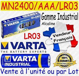 Piles AAA LR03 MN2400 VARTA - Disponibles aussi : AA LR6 CR2032 CR2025 CR2016 3V