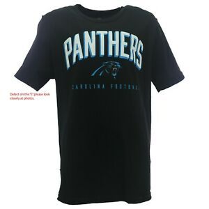 Defect Carolina Panthers Kids Youth Size NFL official T-Shirt New No Tags
