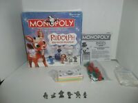 parker brothers collector's edition rudolph the red nosed reindeer monopoly game