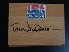 Tara Vanderveer Signed Stanford Cardinal Olympic Basketball Floor Tile Free Ship