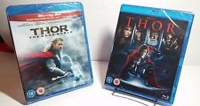 Thor(Bluray, 2011)+Thor:The Dark World (2013)(3D Bluray+2D Bluray)NEW- Free S&H