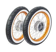 2 Räder Weißwand Reifen Kompletträder pas f Simson S51 S50 S53 Star Schwalbe
