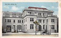 D76/ Albany Georgia Ga Postcard c1915 City Hall Building