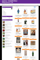 SAFE TANNING WEBSITE WITH NEW DOMAIN - ECOMMERCE BUSINESS - 1 YEARS HOSTING