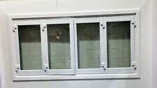 ALUMINIUM BIFOLD WINDOW 4 PANEL, NEW 1800 x 1200h, WHITE, IN STOCK