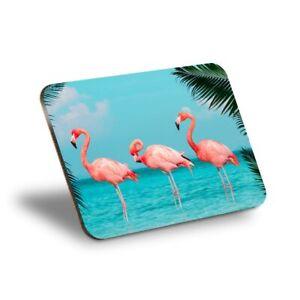 1 x Placemat Cork 290X215 - Pink Flamingo Birds Tropical Flock  #21538