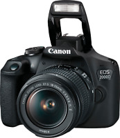 New Canon EOS 2000D DSLR Camera and EF-S 18-55 mm f/3.5-5.6 IS II Lens IT*3