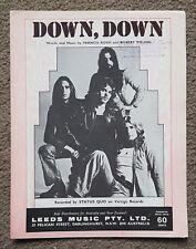 STATUS QUO - DOWN DOWN - VINTAGE AUSTRALIAN SHEET MUSIC - LEEDS MUSIC - VERTIGO