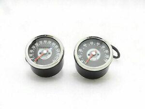 Smith Replica Speedometer Tachometer Pair 150 MPH Grey For Triumph BSA Norton