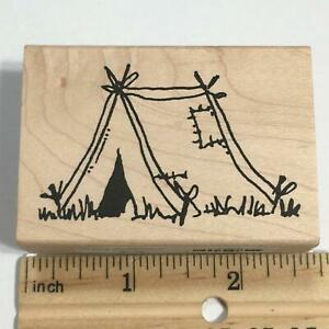 CAMPING TENT Rubber Stamp by Judith