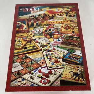 Milton Bradley The Games Of Your Life 1000 Piece MB Puzzle #4437 Vintage 1995