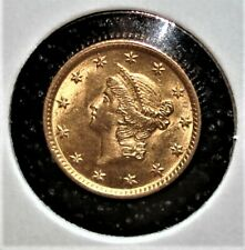 1854 US Gold One Dollar Coin, Type I Variety, Looks Nice
