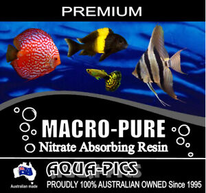 Aqua-Pics Macro-Pure Nitrate & Tannin Remover Reusable Resin Fish filter media