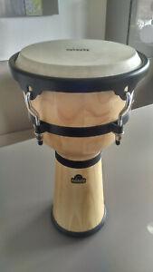 Djembe-Trommel Nino, kaum benutzt, 55cm hoch, Trommelfläche 24cm, incl. Tasche
