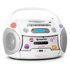 (B-WARE) TRAGBARER KINDER RADIO KASSETTEN STEREO MP3 CD PLAYER TAPEDECK USB + ST