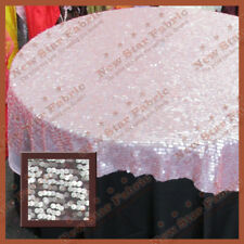 Table Overlay Wedding Party Supplies Pink Mesh Sequin 54 X 54 Inches Wide